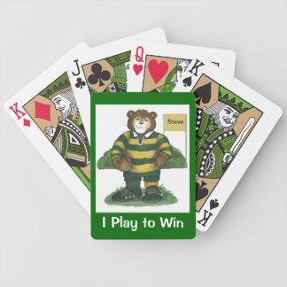 Naipes del rugbi barajas de cartas