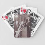 Naipes del saxofón del big band de la fotografía d cartas de juego