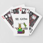 Naipes del St. Urho con el saltamontes de la paz