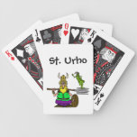 Naipes del St. Urho con el saltamontes de la paz Cartas De Juego