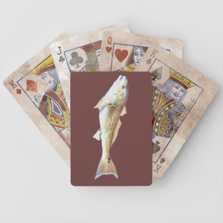 Naipes del tambor rojo barajas de cartas