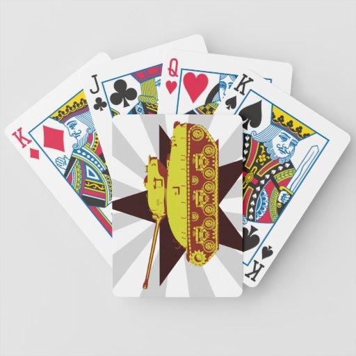 Naipes del tanque (starburst) baraja cartas de poker