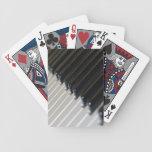 Naipes del teclado barajas de cartas