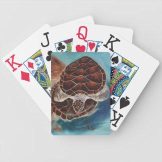 Naipes del tiempo de la tortuga barajas de cartas