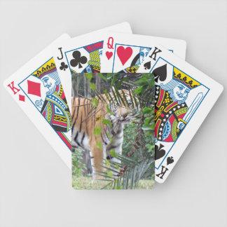 Naipes del tigre de Bengala Baraja Cartas De Poker