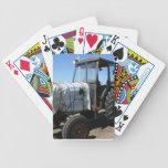 Naipes del tractor cartas de juego