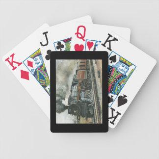 Naipes del tren baraja de cartas