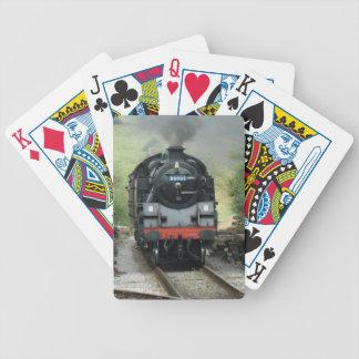 Naipes del tren del vapor cartas de juego