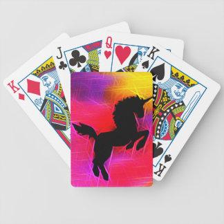 Naipes del unicornio del cielo del aligeramiento d baraja de cartas