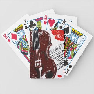 Naipes del violín baraja de cartas