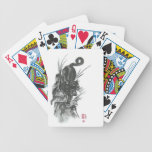 Naipes descendentes del arte de la pantera negra barajas de cartas
