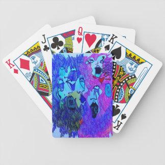 Naipes dibujados mano baraja de cartas