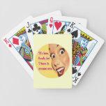 Naipes divertidos 1950 del ama de casa retra barajas de cartas