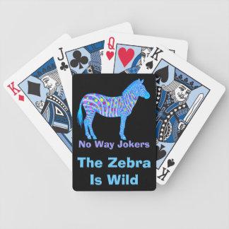 Naipes divertidos coloridos de la cebra de encargo barajas de cartas