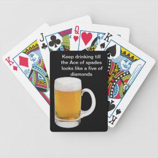 Naipes divertidos de la cerveza barajas de cartas