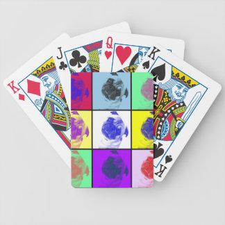 Naipes divertidos del barro amasado baraja cartas de poker