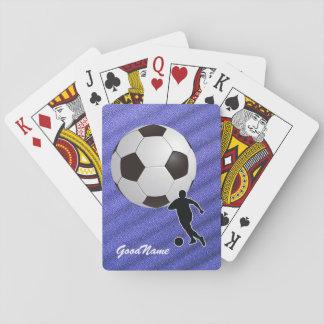 Naipes - el fútbol, personaliza con nombre