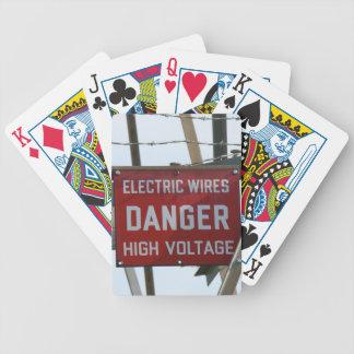 Naipes eléctricos de alto voltaje de los alambres  baraja de cartas