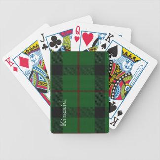 Naipes elegantes de la tela escocesa de tartán de  baraja cartas de poker