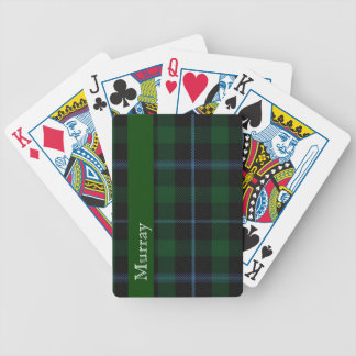 Naipes elegantes de la tela escocesa de tartán de  barajas