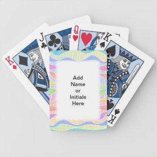 NAIPES EN COLORES PASTEL de la RAYA del ARCO IRIS  Baraja Cartas De Poker