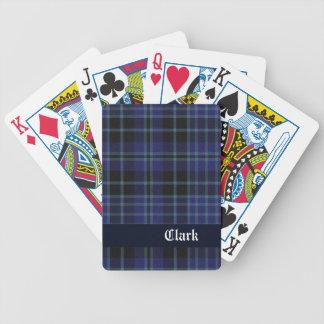 Naipes escoceses azules de la tela escocesa de Cla Baraja Cartas De Poker