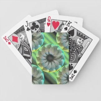 Naipes espirales del tiburón baraja de cartas