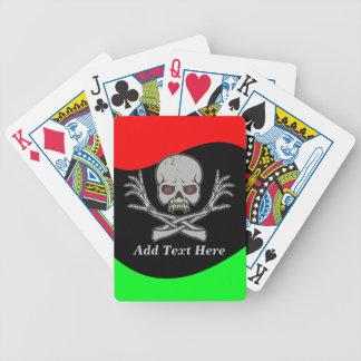 Naipes esqueléticos personalizados del cráneo del  cartas de juego