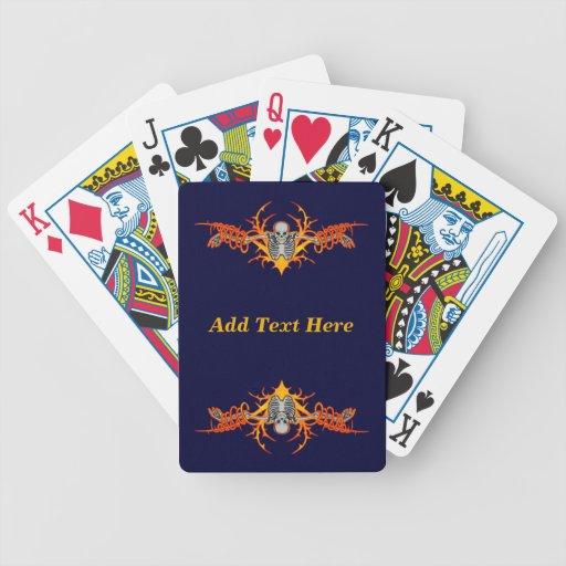 Naipes esqueléticos que vuelan personalizados cartas de juego