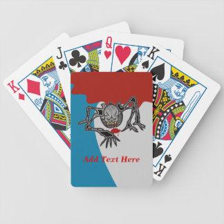 Naipes esqueléticos sangrientos de arrastre barajas de cartas