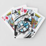 Naipes estáticos del estallido barajas de cartas