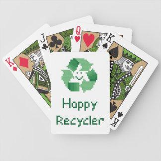 Naipes felices del reciclador barajas de cartas