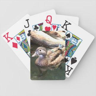Naipes femeninos del pato de madera cartas de juego