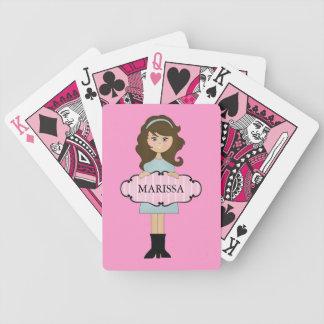 Naipes femeninos triguenos personalizados barajas de cartas