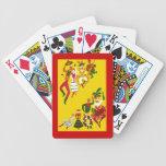 Naipes festivos del salón del póker de los vaquero cartas de juego
