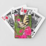 Naipes florales rosados de la fotografía de la mar cartas de juego