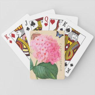 Naipes franceses del acento del Hydrangea rosado d