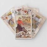 Naipes franceses del vintage cartas de juego