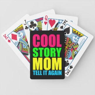 Naipes frescos de la mamá de la historia baraja cartas de poker