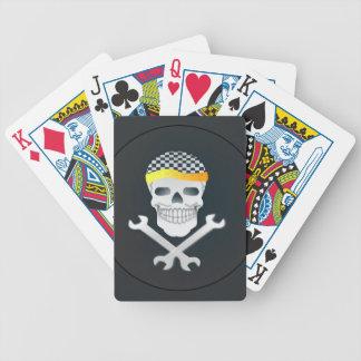 Naipes frescos del diseño del cráneo cartas de juego