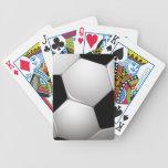 Naipes frescos del fútbol baraja de cartas