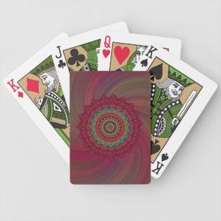 Naipes fucsias de la rueda cartas de juego