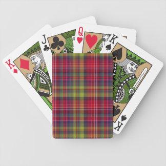 Naipes fucsias de la tela escocesa baraja cartas de poker