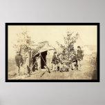 Naipes fuera de servicio 1862 de los muchachos del impresiones