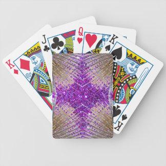 Naipes futuristas chispeantes 1 del diseñador barajas de cartas