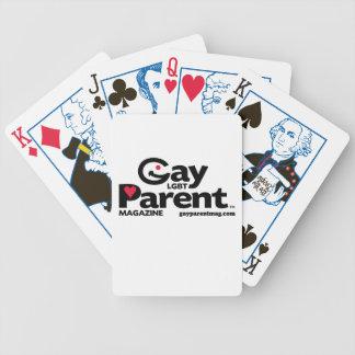 Naipes gay de la revista del padre baraja cartas de poker