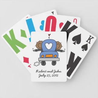 Naipes gay negros de encargo del boda baraja cartas de poker