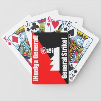 naipes generales de la huelga general del huega baraja cartas de poker