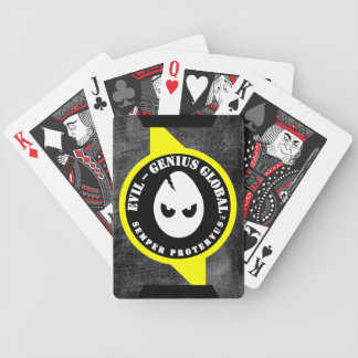 Naipes globales del genio malvado barajas de cartas