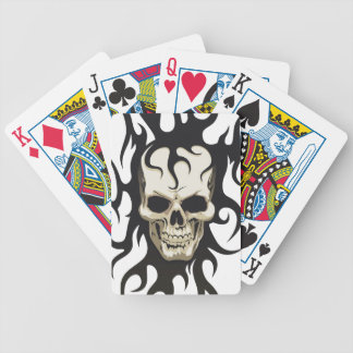 Naipes góticos esqueléticos baraja cartas de poker